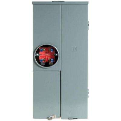 Homeline 200 Amp 20-Space 40-Circuit Outdoor Ring Type Overhead/Underground Main Breaker CSED with Kit