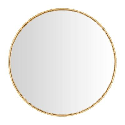 Medium Round Gold Convex Classic Accent Mirror (24 in. Diameter)
