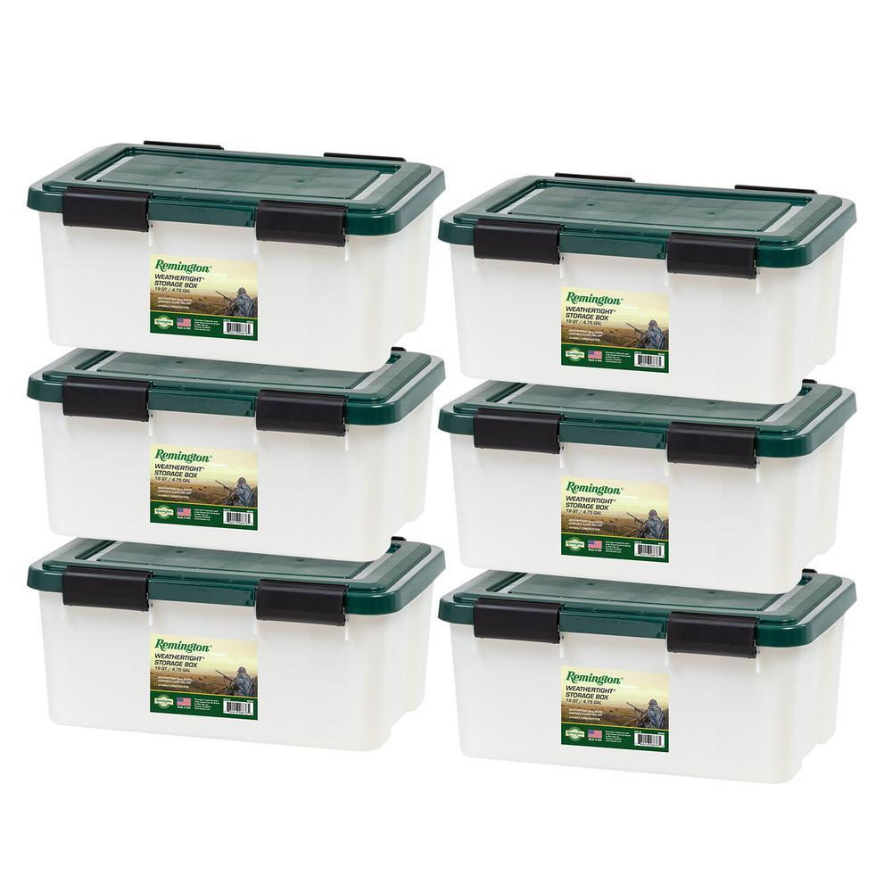 Remington 19 Qt. Weathertight Storage Box (6-Pack)