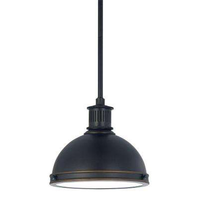 Pratt Street Metal 1-Light Autumn Bronze Pendant with Glass Diffuser