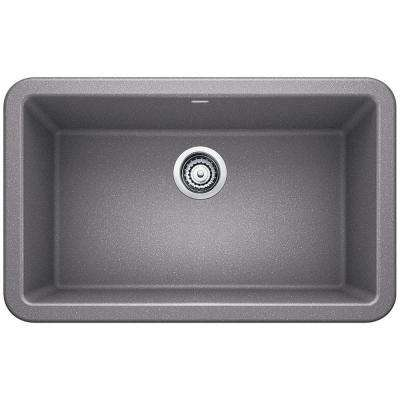 Ikon Apron Front Granite Composite 29 in. Single Bowl Kitchen Sink in Metallic Gray