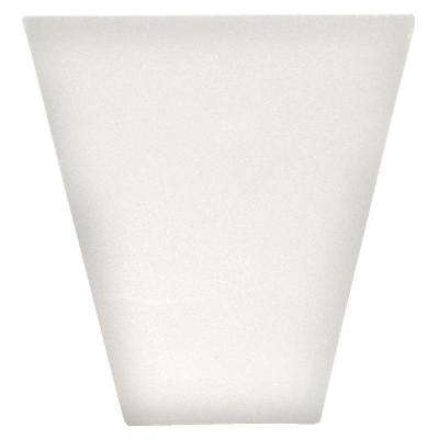 9 in. Flat Panel Window Header Keystone in 123 White