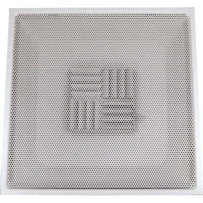 24 in. x 24 in. Drop Ceiling T-Bar Perforated Face Air Vent Register, White with 10 in. Collar