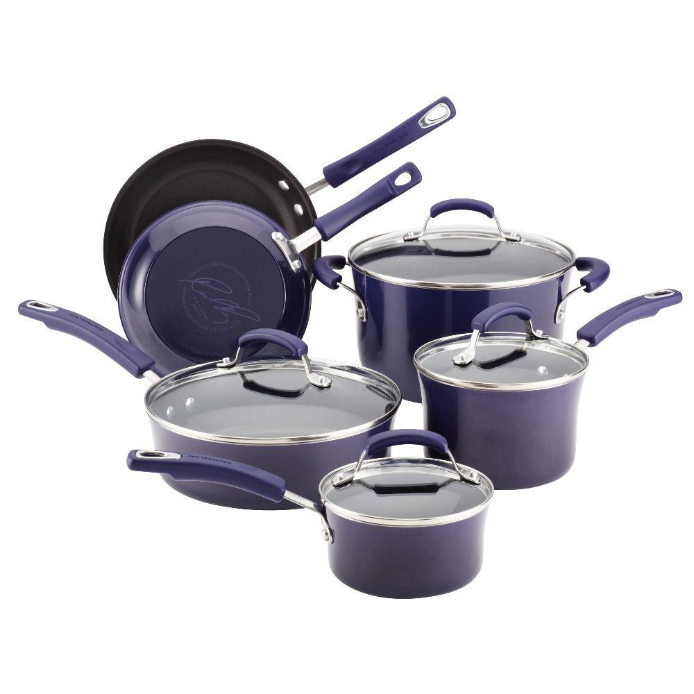 Rachael Ray Porcelain II 10-Piece Set in Purple