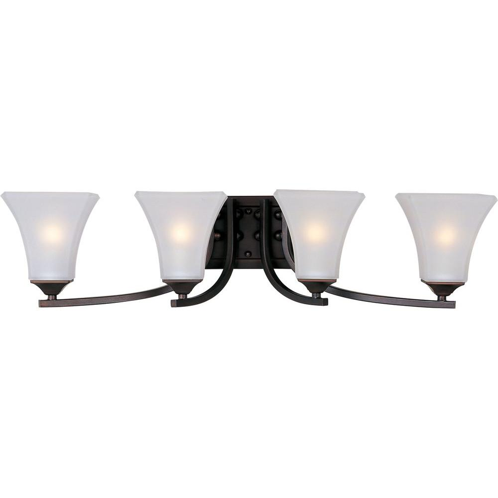 Aurora 4-Light Oil-Rubbed Bronze Bath Vanity Light