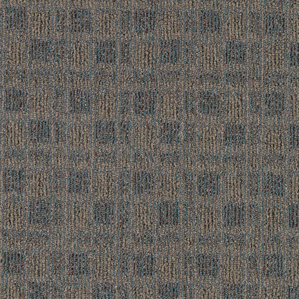 Carpet Sample - Cross Functional - Color Indian Teal Loop 8 in. x 8 in.