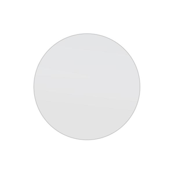 32 in. W x 32 in. H Framed Round Bathroom Vanity Mirror in White