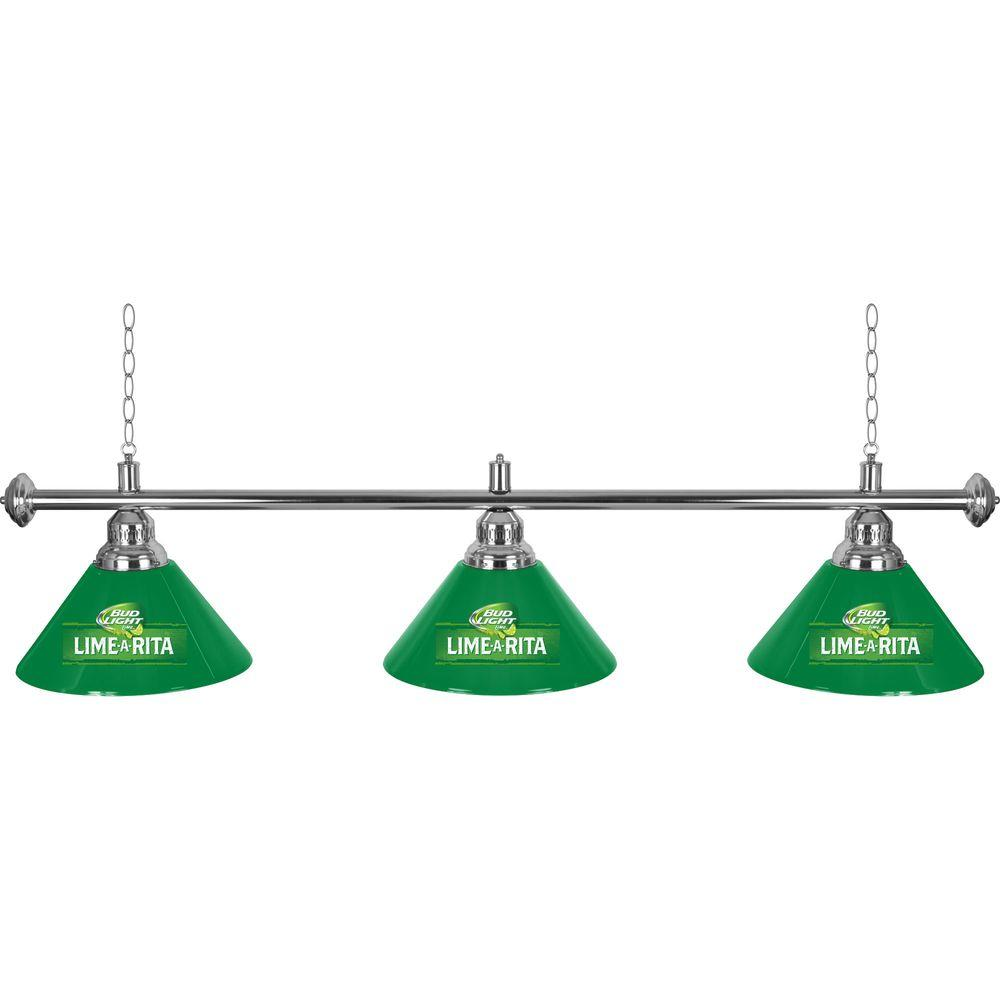 Bud Light Lime-A-Rita 3-Light Green Billiard Lamp