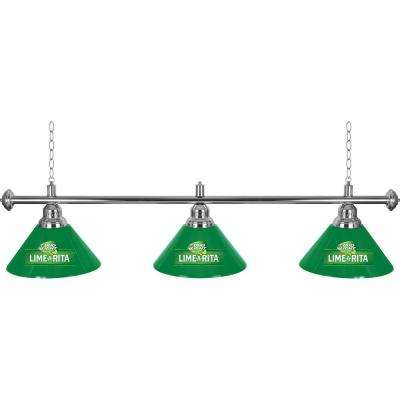 Bud Light Lime-A-Rita 3-Light Green Billiard Lamp