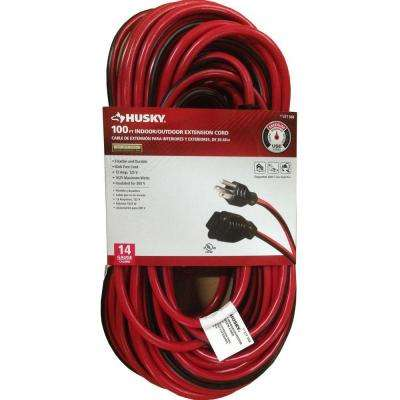 100 ft. 14/3 Medium-Duty Indoor/Outdoor Extension Cord