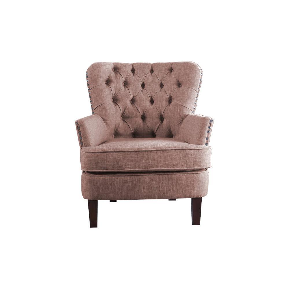 b2cf5c45f11e2 Wood - Nailhead Trim - Accent Chairs - Chairs - The Home Depot