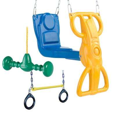 Wild Ride Play Set Accessory Bundle with Wind Rider Glider, Whirl-N-Twirl and Ring/Trapeze Combo