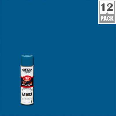 17 oz. M1600 System Precision Line Solvent-Based Caution Blue Inverted Marking Spray Paint (12-Pack)