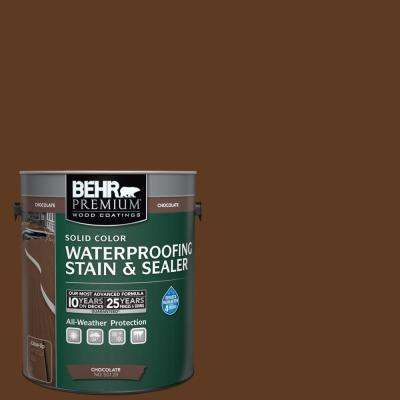 1 gal. Chocolate Solid Color Waterproofing Stain and Sealer