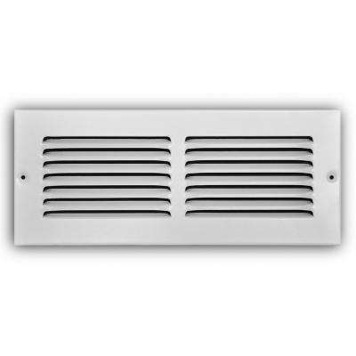 12 in. x 4 in. White Return Air Grille