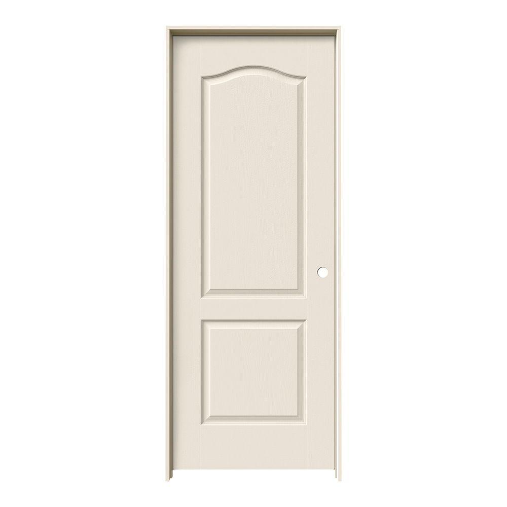 Jeld wen 32 in x 80 in princeton primed left hand smooth - Home depot interior doors prehung ...