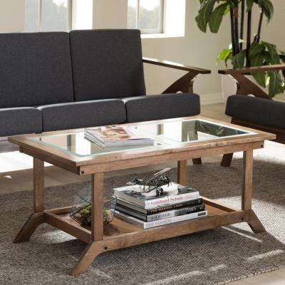 Cayla Mid-Century Medium Brown Wood Coffee Table