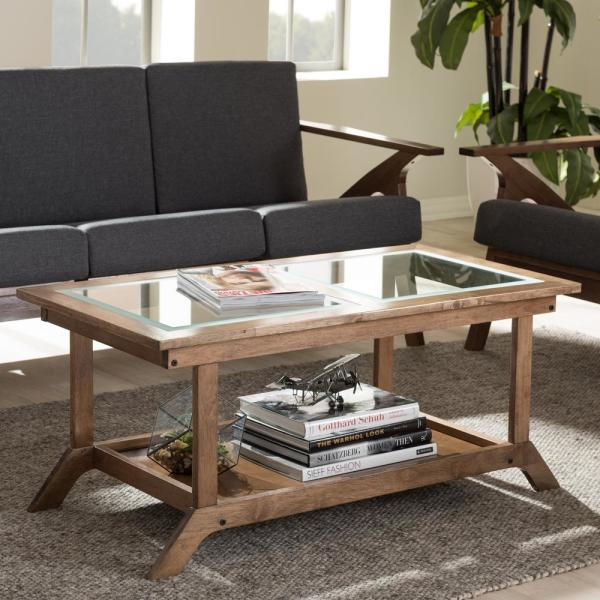 Baxton Studio Cayla Mid-Century Medium Brown Wood Coffee Table 28862-6888-HD