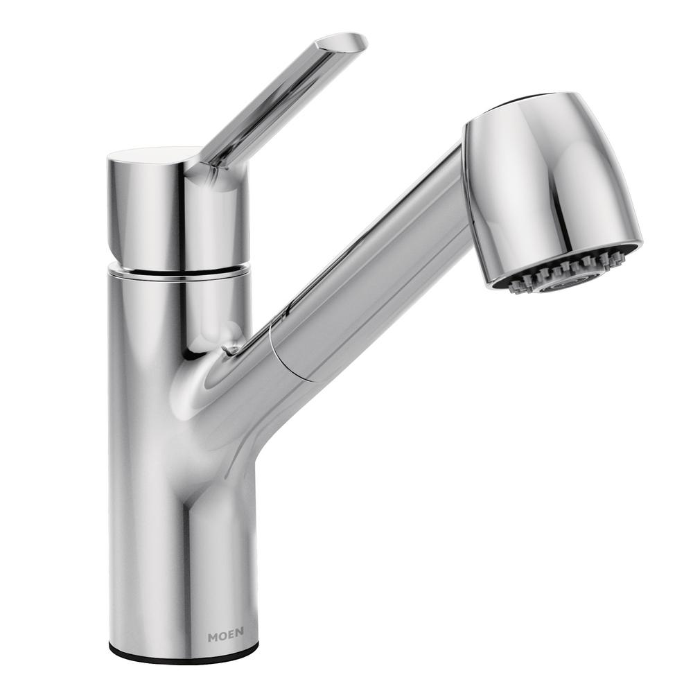 MOEN Method Single-Handle Pull-Out Sprayer Kitchen Faucet with Power ...