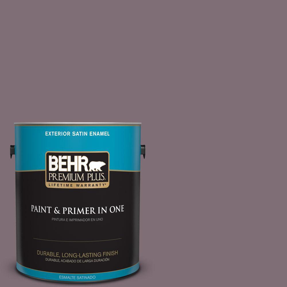 BEHR Premium Plus 1-gal. #ECC-18-3 Blooming Wisteria Satin Enamel Exterior Paint