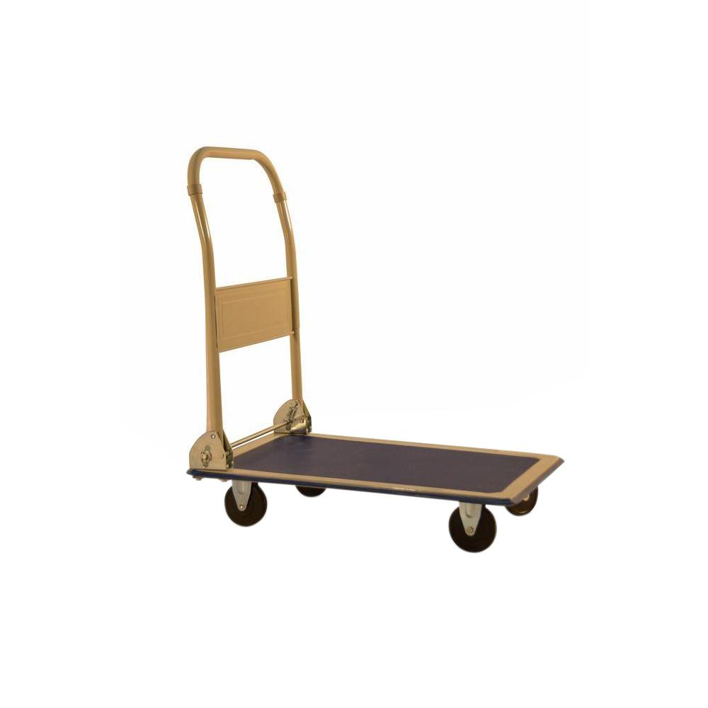 Milwaukee folding handle platform cart dc33881 the home for Furniture moving equipment home depot