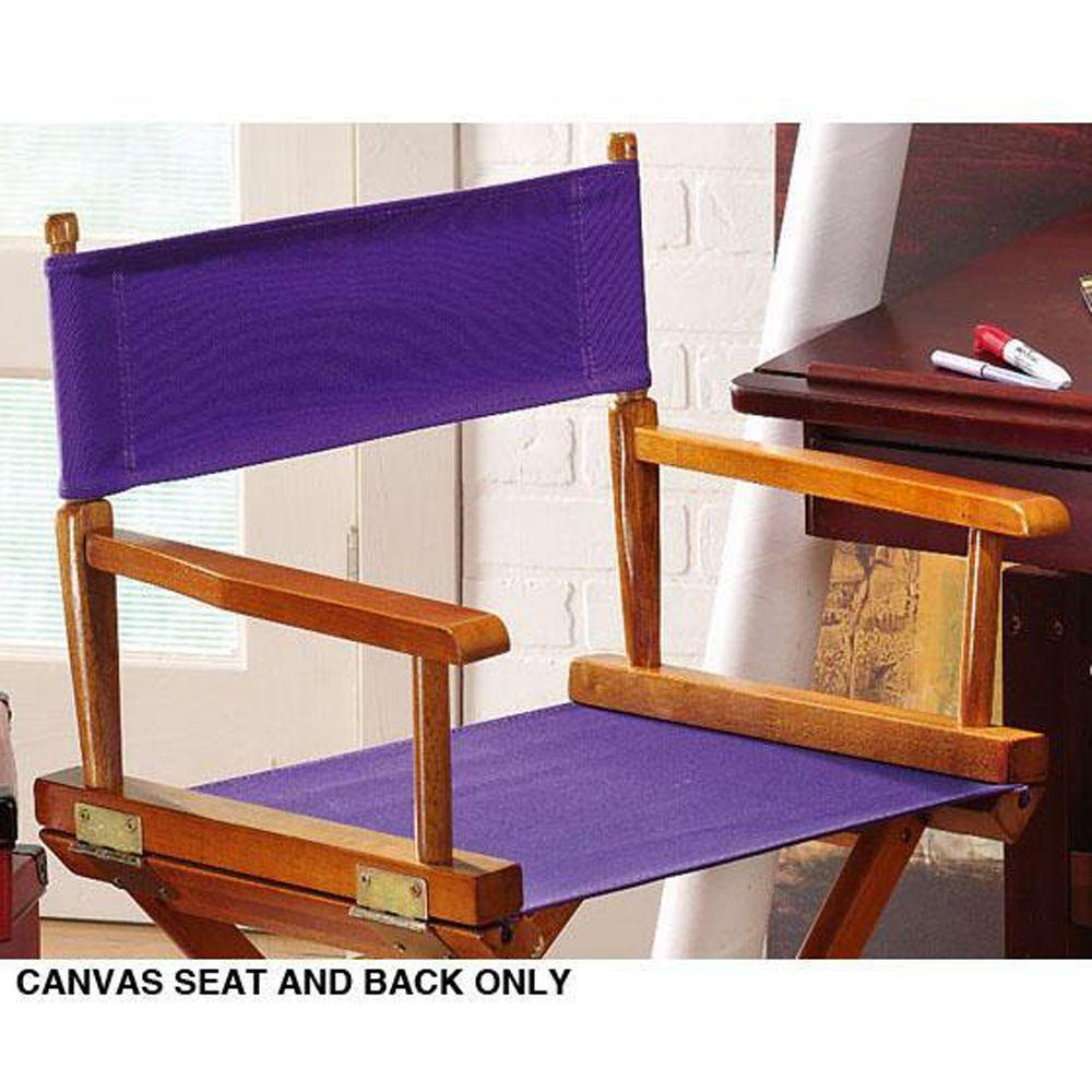 Home Decorators Collection Purple Seat and Back for Director's Chair-Cover Only