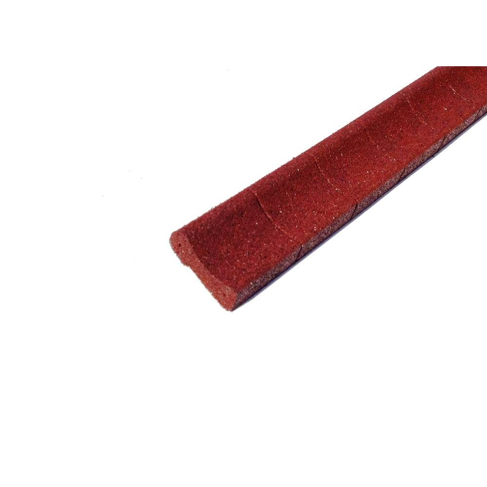4 ft. Red Rubber Curb Landscape Edging (4-Pack)