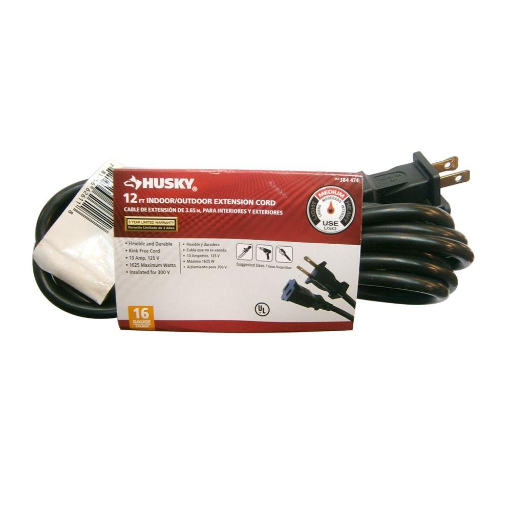 Husky 12 ft. 16/2 Extension Cord