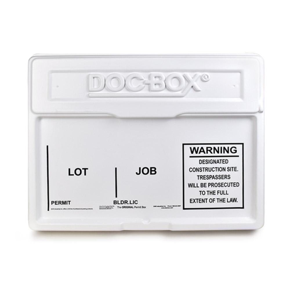 21 in. x 27 in. x 4 in. Outdoor/Indoor Standard Posting Permit Box Unit