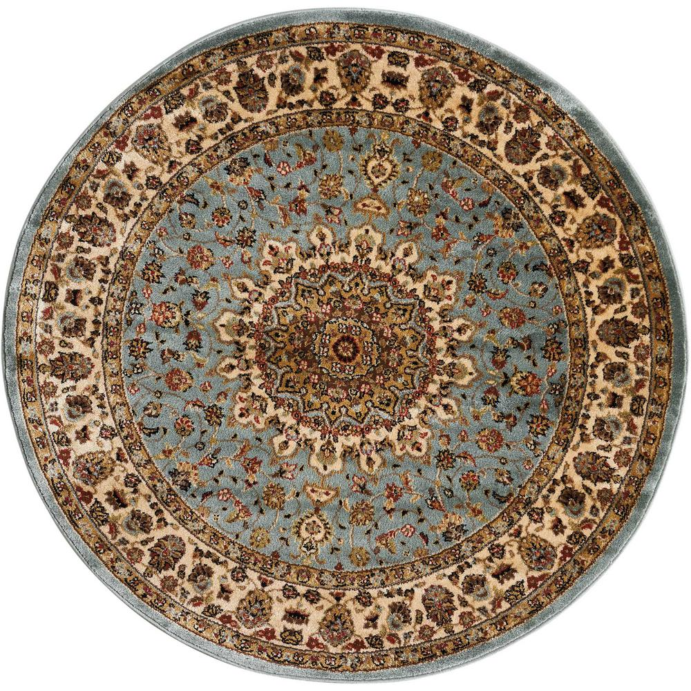 Nourison Delano Blue 8 Ft Round Area Rug 031358 The