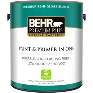 1 gal. Ultra Pure White Semi-Gloss Enamel Zero VOC Interior Paint and Primer in One