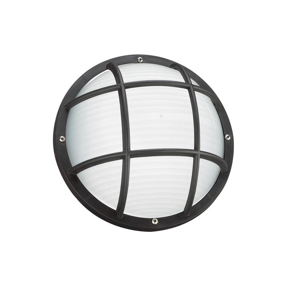 Bayside 1-Light Black Outdoor 5 in. Bulkhead Light