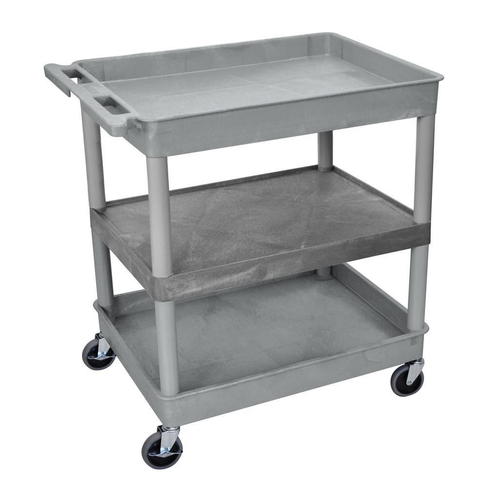 32 in. W x 24 in. D Large Utility Cart Gray