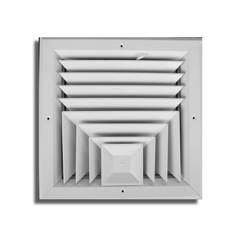 Truaire 6 In X 6 In 3 Way Square Ceiling Diffuser Ha503