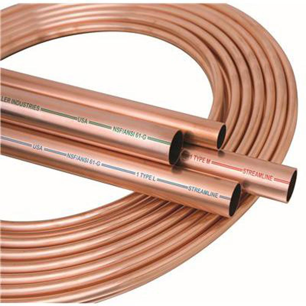 5 pieces 1//2 OD x 10 ft Straight Copper Tubing Type K