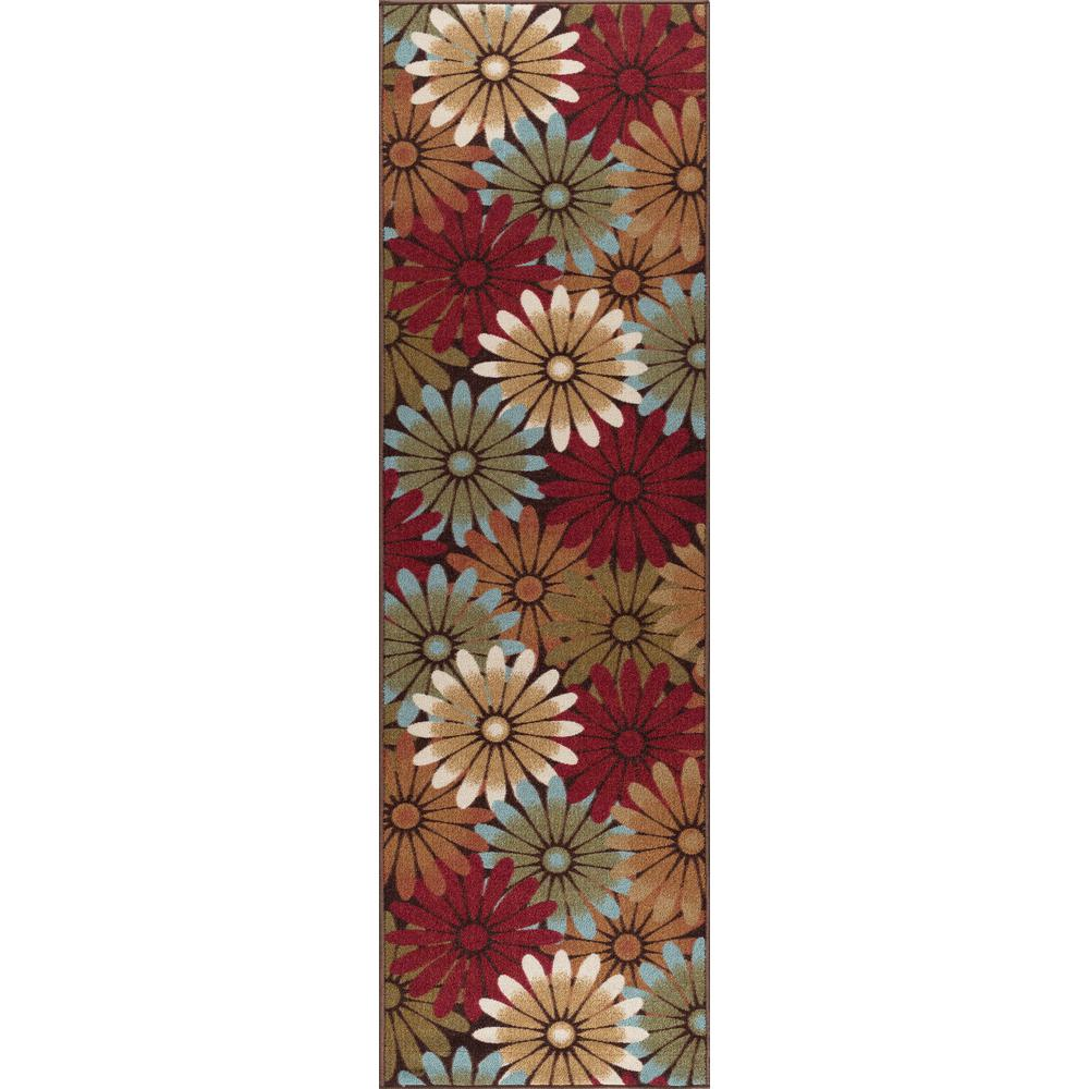 Tayse Rugs Majesty Multi 2 ft. x 8 ft. Transitional Runner Rug