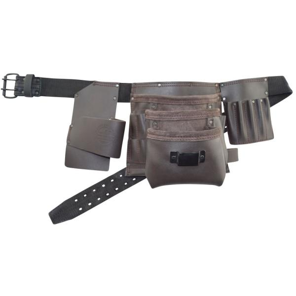 18-Pocket Electricians Tool Apron with Oil Tanned leather