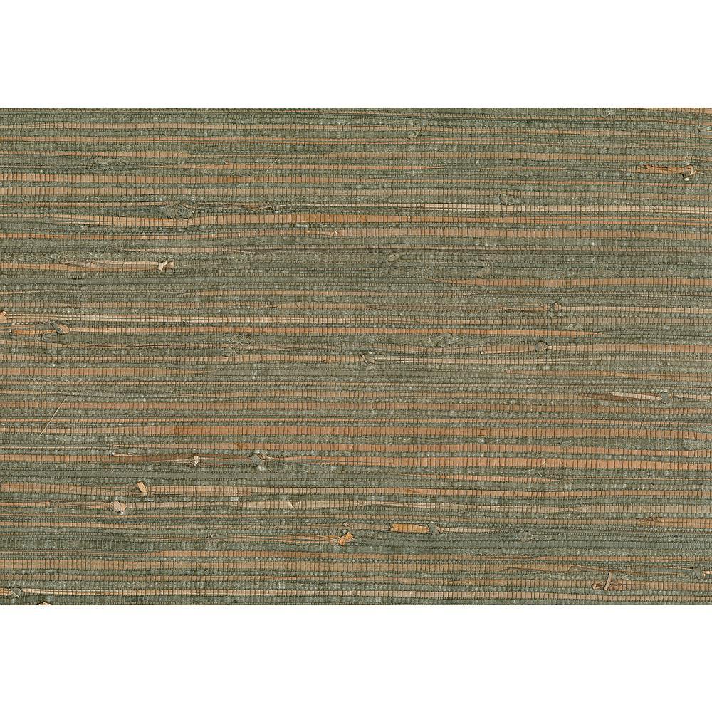 8 in. x 10 in. Kohaku Sage Grasscloth Wallpaper Sample