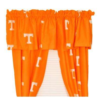 42 in. W x 84 in. L  Tennessee Volunteers Cotton With Tie Back Curtain in Orange  (2 Panels)