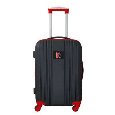 NCAA Northeastern 21 in. Red Hardcase 2-Tone Luggage Carry-On Spinner Suitcase