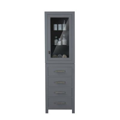 Madison 21 in. x 17 in. D x 72 in. H Free Standing Linen Cabinet in Gray