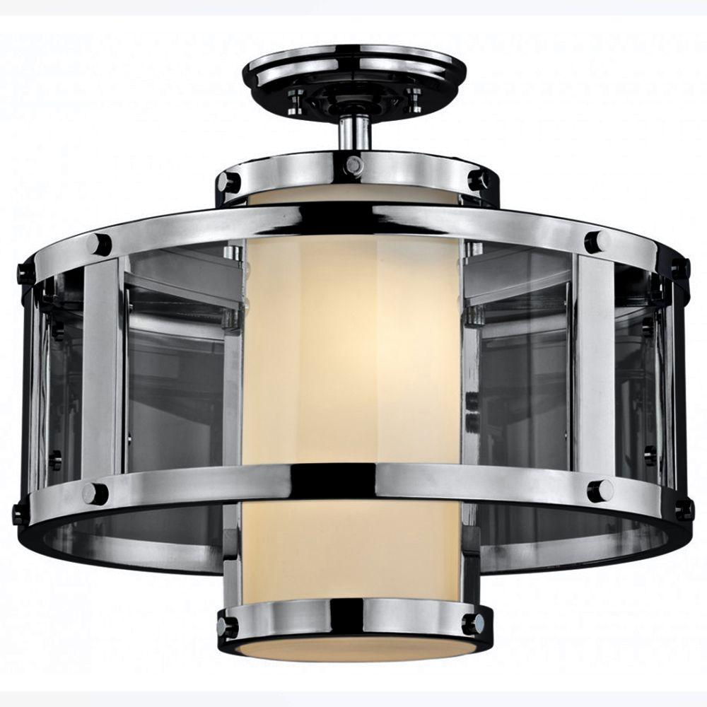 Filament Design Celestial 2-Light Graphite Semi-Flush Mount Light
