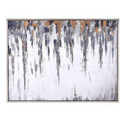 Silver Wall Art Frost Framed Oil Painting