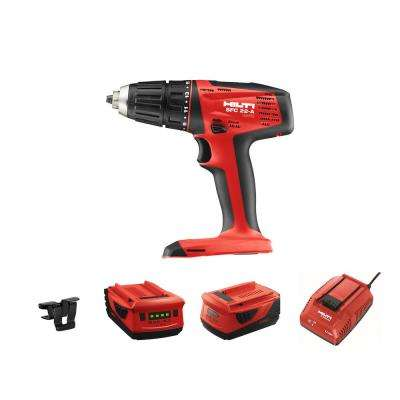 22-Volt Lithium-Ion 1/2 in. Cordless Drill Driver SFC 22 Kit with 5.2 Battery, Charger and Belt Clip