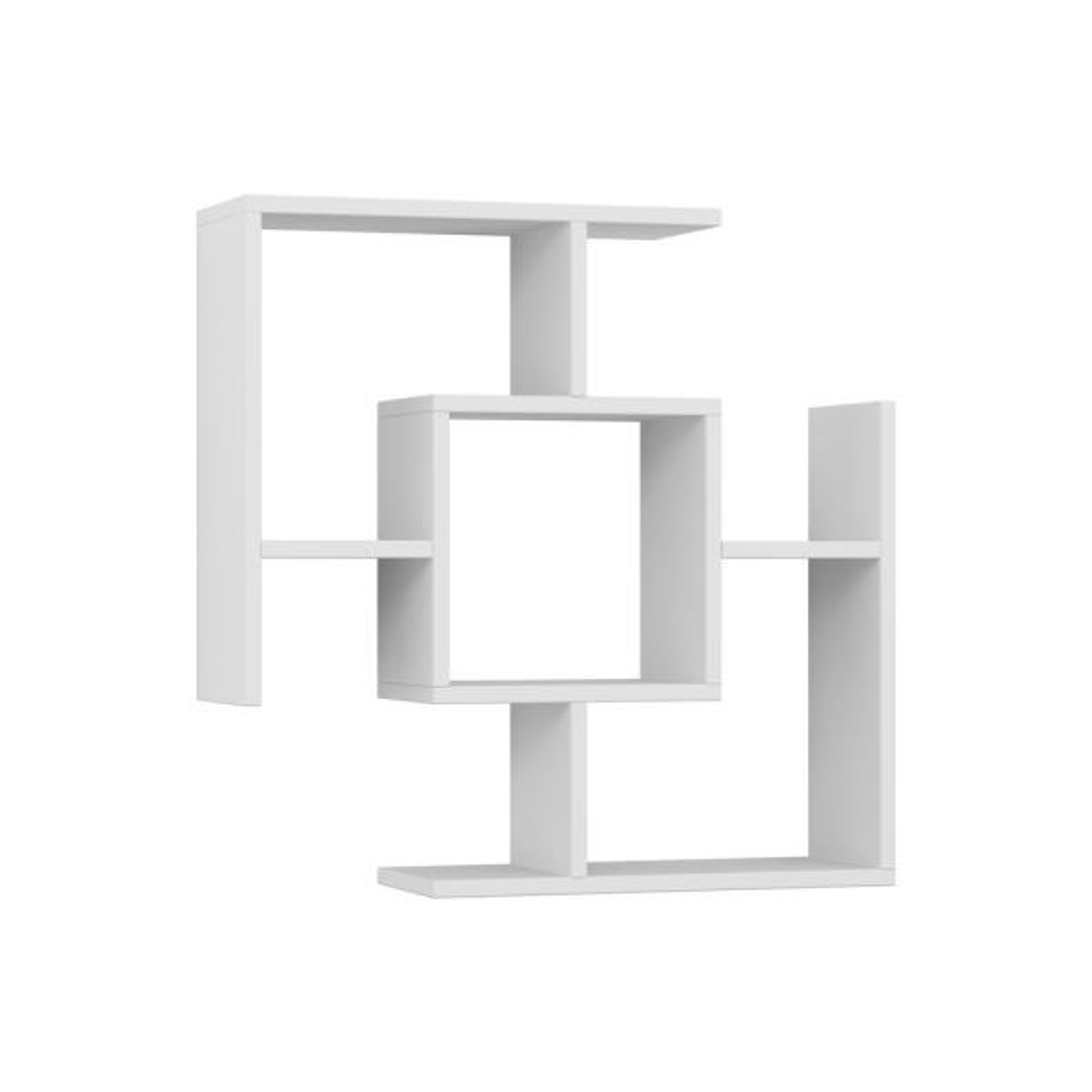 Ada Home Decor Warel White Modern Wall Shelf DCRW2371