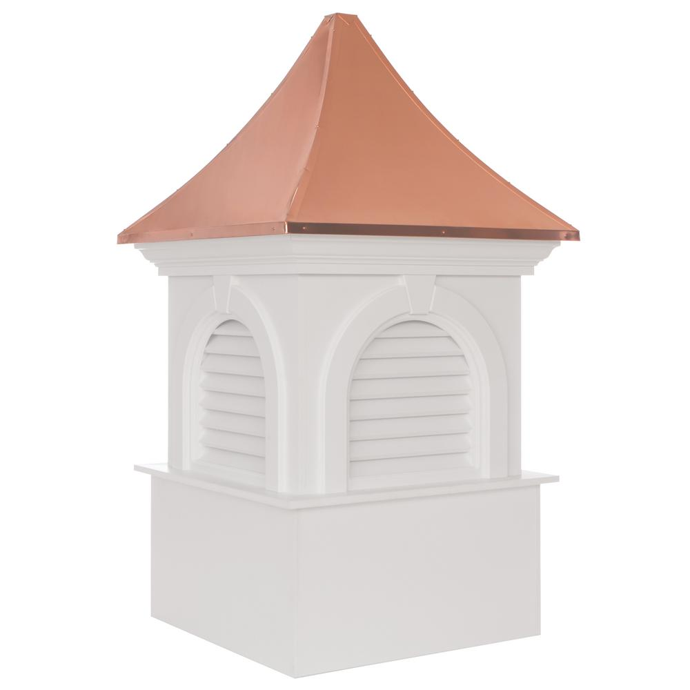 Smithsonian Newington Vinyl Cupola with Copper Roof 26 in. x 43