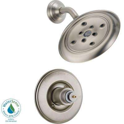 Victorian 1-Handle Shower Faucet Trim Kit in Stainless with H2Okinetic (Valve and Handle Not Included)