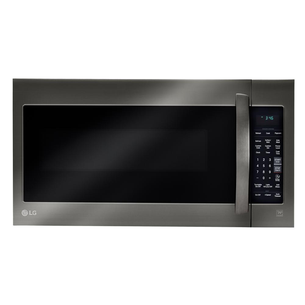 black stainless steel lg electronics microwaves appliances rh homedepot com