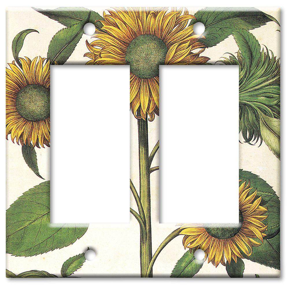 Art Plates Sunflowers 2 Rocker Wall Plate