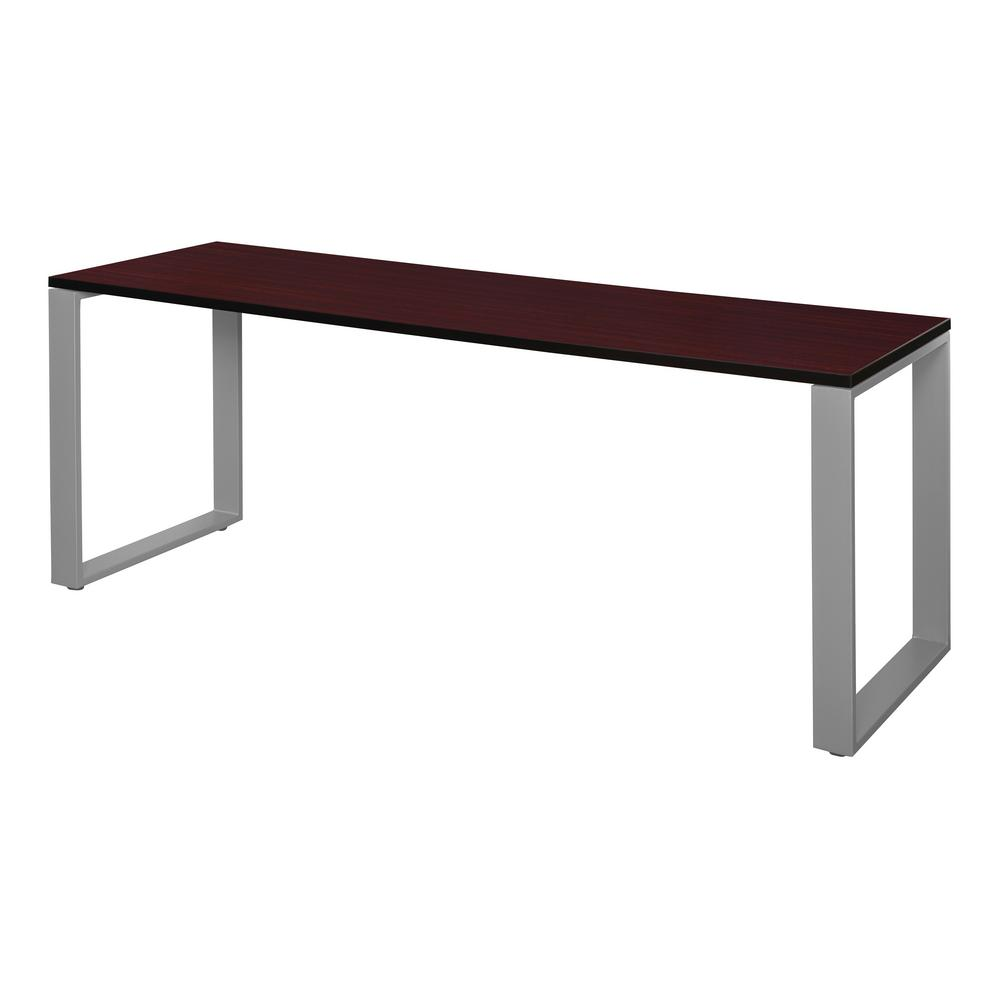 Structure 66 in. x 24 in. Mahogany/Grey Training Table